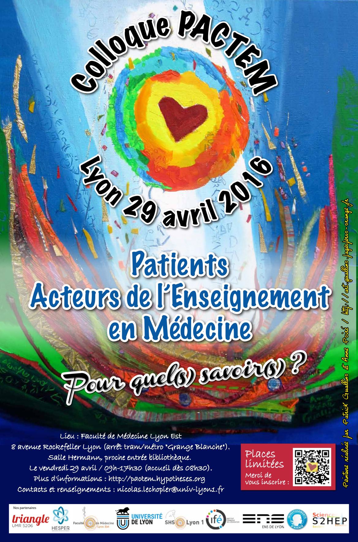 Affiche Colloque PACTEM 29 avril